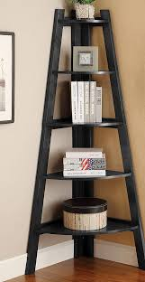 Coaster Corner Bookcase This Beautiful Laminated Veneer Corner Wall Mount Shelf Is D