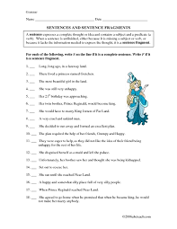 sentences and sentence fragments 5th 7th grade worksheet 2016 wa