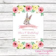 bunny birthday invitation somebunny is one birthday invitation