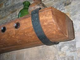 decorative iron work mantle bracket
