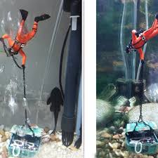 sale 1pc diver figure fish tank ornament