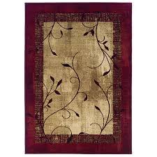 4 X 5 Kitchen Rug Shop Allen Roth Tinsley Red Rectangular Indoor Woven Nature Area