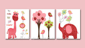 Giraffe Baby Decorations Nursery by Baby Girl Room Decor Baby Girl Nursery Print Baby Nursery