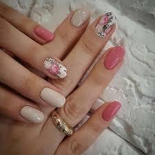 pink nails spring nails flower design nails nails ideas