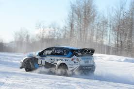 rally subaru snow learning to drive a subaru wrx sti rally car in the snow