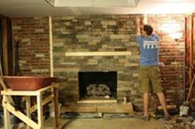 cover brick with stone our brick fireplace makeover how to cover