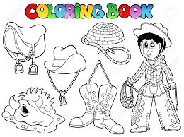 cowboy coloring pages pictures in gallery cowboy coloring book at
