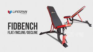 lifespan fitness flat incline decline bench youtube