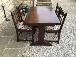 Colonial Dining Table Vintage Ercol Solid Elm Wood Old Colonial Yorkshire Draw Leaf