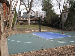 How To Build A Basketball Court In Backyard 119 Best Backyard Basketball Court Images On Pinterest Backyard