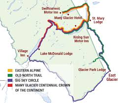 Map Of Glacier National Park East Side Tours