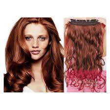 one clip in hair extensions 24 one clip in hair weft extension wavy copper