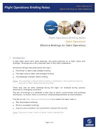 briefing pdf flight attendant aviation safety