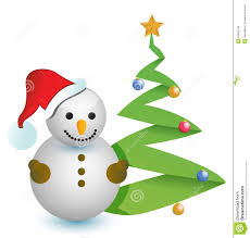 snowman christmas tree snowman and christmas tree illustration design royalty free stock
