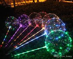 wholesale party supplies 3 meter led light balloons with stick 18 inch light up balloon in