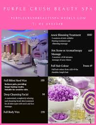 types of purple purple crush beauty spa home facebook