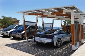 4 Car Carport Bmw Presents Solar Carport Concept For I Cars Autoevolution