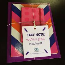 take note you re a great employee notebook set easy and