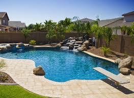 Backyard With Pool Ideas Pond Waterfall Design Swimming Pool Domes Semi Inground Pool