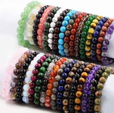 stone beaded bracelet images 7 5 quot stone beads bracelet elastic stretch bangle 8mm 10mm round jpg
