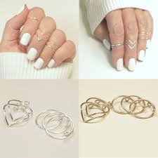 knuckle finger rings images 5pcs set hot mid midi above knuckle ring band gold silver tip jpg