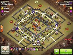 Coc Map 6 Golem Attack Strategy Clash Of Clans Land