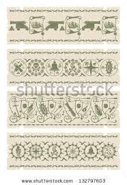 borders pirate ornaments 1 vector stock vector 132797603