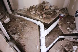kitchen sink waste pipe in basement floor to the right is the new