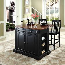 shop crosley furniture black craftsman kitchen island with 2