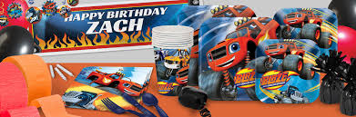 happy birthday halloween theme blaze and the monster machines birthday theme party supplies