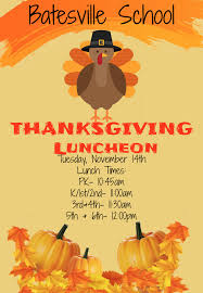 batesville thanksgiving luncheon nov 14th batesville school