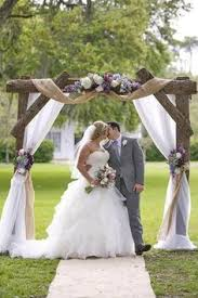 wedding arbor used diy summer country rustic wedding arch sunflower and burlap decor