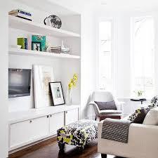 Built In Shelves Living Room Built In Tv Shelves With Ladder On Rails Cottage Living Room