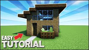 Build A Small House by Minecraft How To Build A Small Survival Starter House Youtube