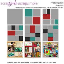 photo pocket pages scrapsimple digital layout album templates digi pocket pages 2 mini