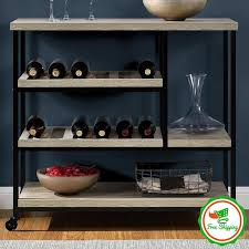 kitchen cart island modern wine rack rolling storage cabinet