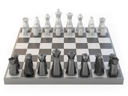 low poly chess set 3d printable model cgtrader