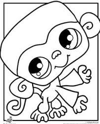 littlest pet shop monkey coloring page littlest pet shop