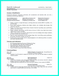 cool construction project manager resume to get applied how write