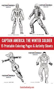 captain america winter soldier coloring pages u0026 activity