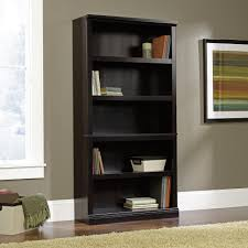 sauder bookcase with glass doors furniture dark painting sauder bookcase with five shelves and