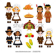 indians pilgrims food stock vector 231821761