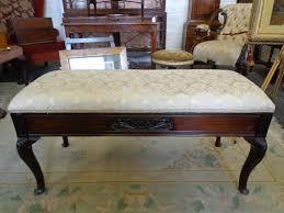 edwardian mahogany duet piano stool antiques atlas