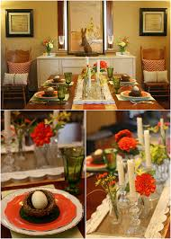 hues of orange hues of orange easter tablescape pizzazzerie