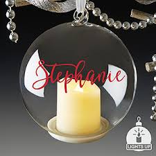 personalized light up ornaments you light up my