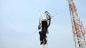 Antena Omni mounting antena omni di triangle tower