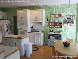 kitchen feature wall ideas get ziggy with it stencil on kitchen feature wall paint pattern