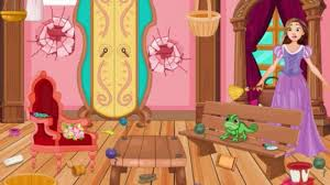 Room Makeover Game Rapunzel House Cleaning And Makeover Play The Game Online
