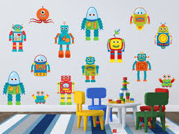 Wall Decals For Boys Room Robot Wall Decal Robot Wall Art Boys Room Wall Decals