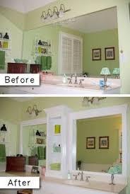 Bathroom Mirror Ideas Diy Bathroom Mirror Frame For 10 Blue Wood Stain Mirror